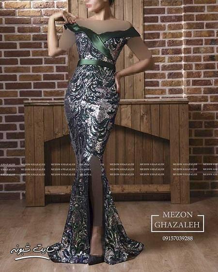 مدل لباس مجلسی بلند برای مهمانی های مختلط