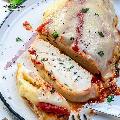 طرز تهیه لازانیا سینه مرغ شکم پر به همراه تصاویر
