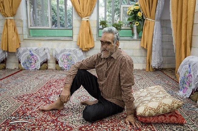 تصاویر حاج حسین خسروخاور جانباز 70 درصد +ماجرای مجروح شدن