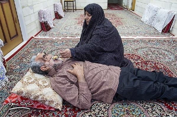 عکسهای حاج حسین خسروخاور جانباز 70 درصد و همسرش