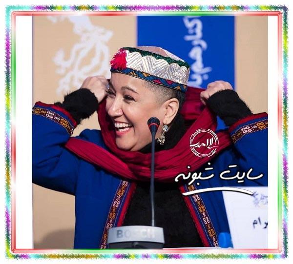 تصاویر پانته آ بهرام جشنواره فجر سر تراشیده در فیلم شنای پروانه