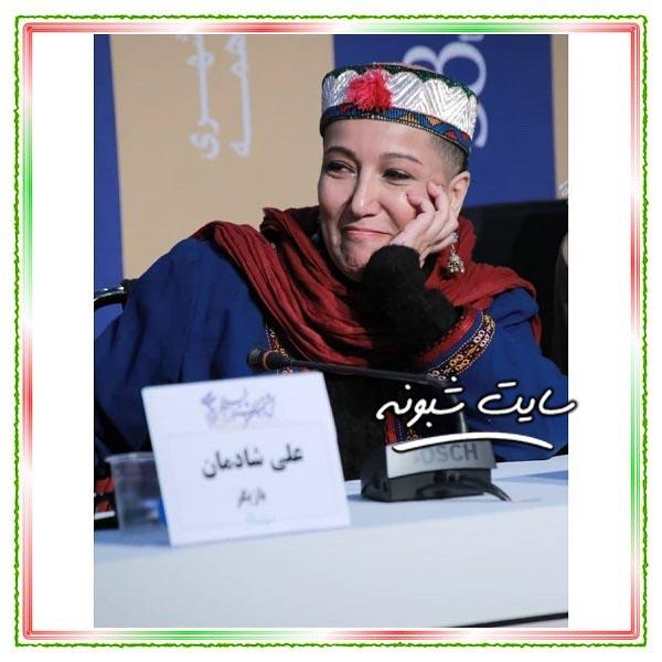 عکس های پانته آ بهرام با سر تراشیده فیلم شنای پروانه جشنواره فجر