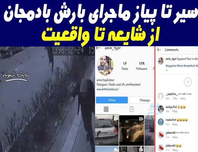 ماجرای بارش بادمجان در غرب تهران + ویدیو