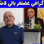درگذشت غضنفر بالی لاشک شاعر و ترانه سرای مشهور مازندرانی اثر کرونا