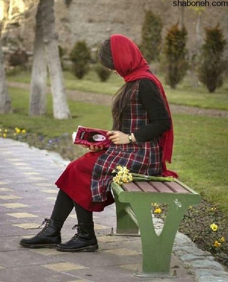 عکس پروفایل دختر از پشت و بدون چهره در پارک