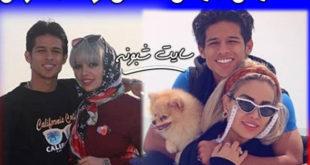 لایو جنجالی مهدی قائدی و همسرش و سوتی در عوض کردن دوربین