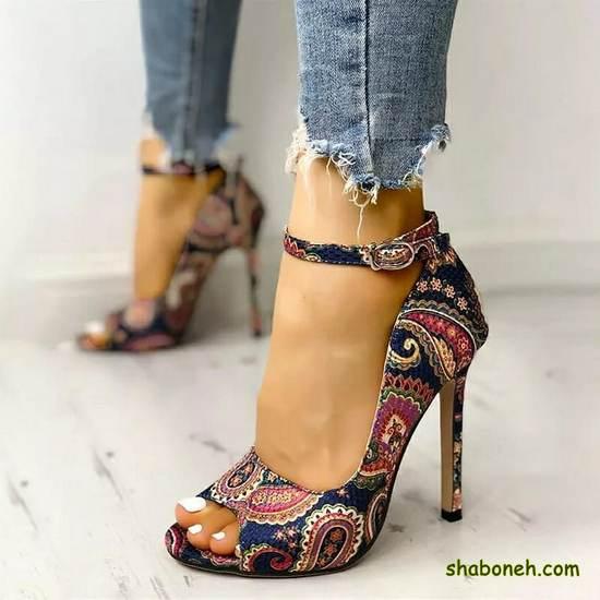 مدل کفش مجلسی زنانه ۲۰۲۰ طرح دار