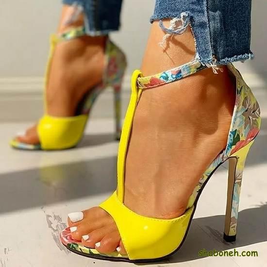 مدلهای کفش مجلسی دخترانه رنگ زرد