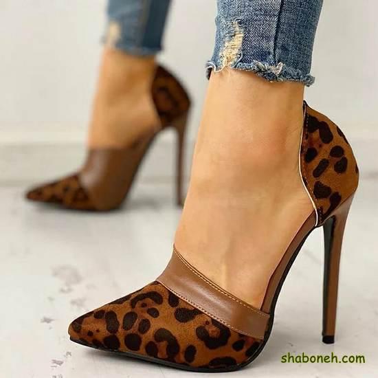 مدلهای کفش مجلسی دخترانه پلنگی
