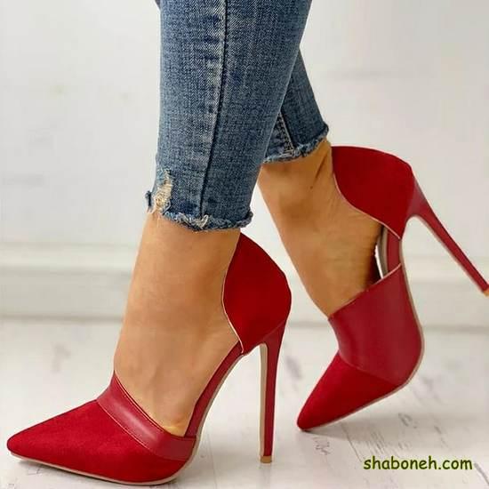 مدل کفش مجلسی زنانه پاشنه بلند قرمز