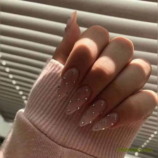 عکس طراحی ناخن جدید عروس