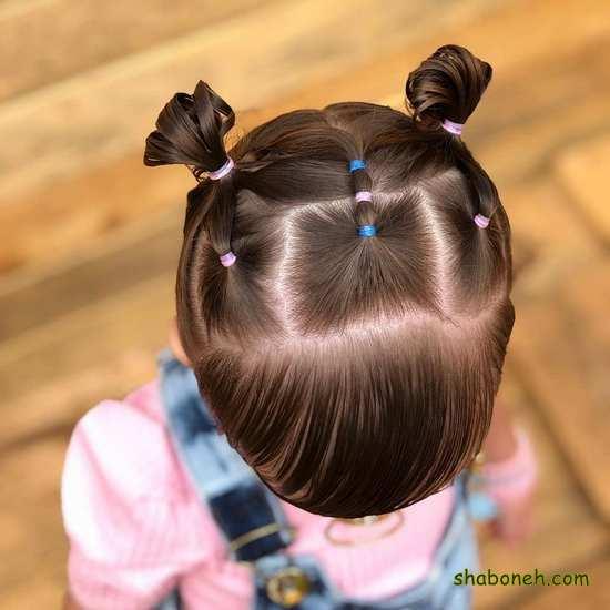 آموزش انواع بافت موی بچه گانه