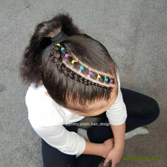 انواع بافت مو دخترانه بچه گانه