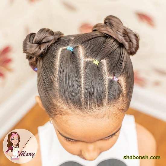 بافت مو کوتاه بچه گانه ساده