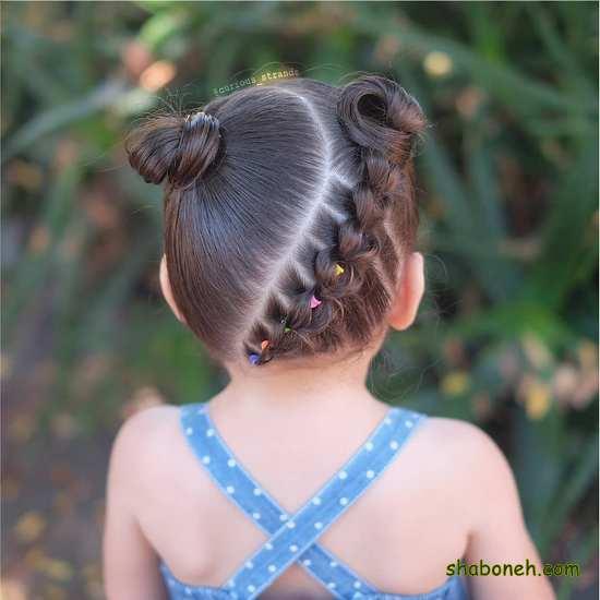 آموزش بافت مو بچه گانه ساده