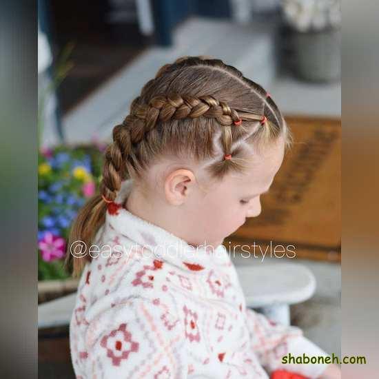 مدل بافت مو جدید بچه گانه