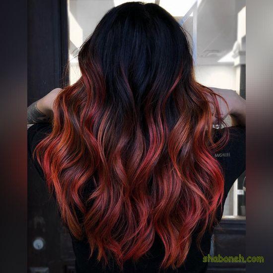 رنگ مو دخترانه بدون دکلره