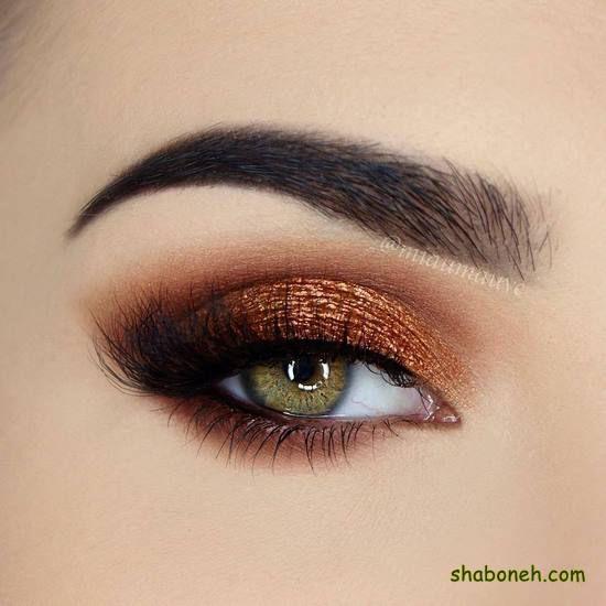 مدل سایه چشم دخترانه زیبا