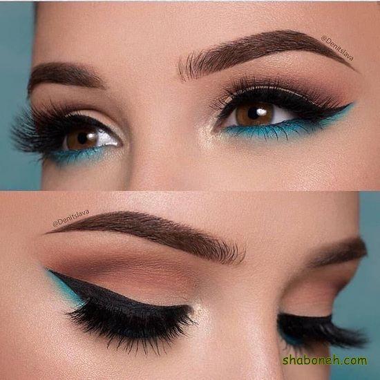 مدل آرایش چشم مشکی