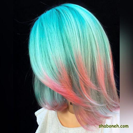 جدیدترین رنگ مو دخترانه فانتـزی