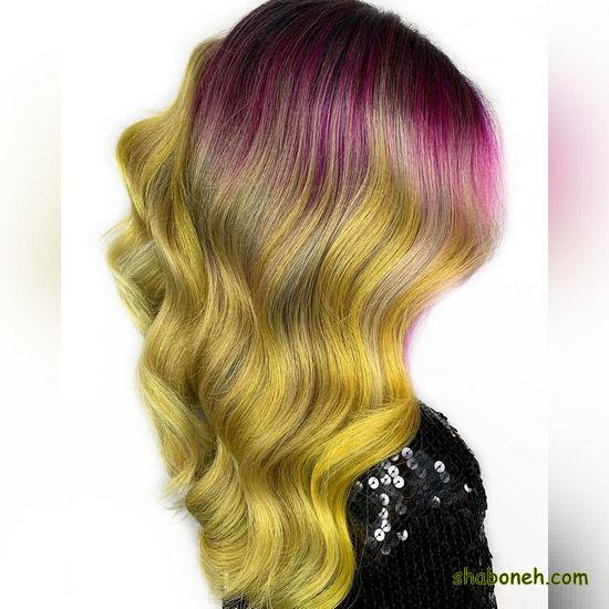رنگ موهای جدید بدون دکلره فانتـزی