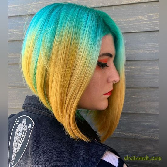 عکس مدل رنگ مو مش جدید فانتـزی
