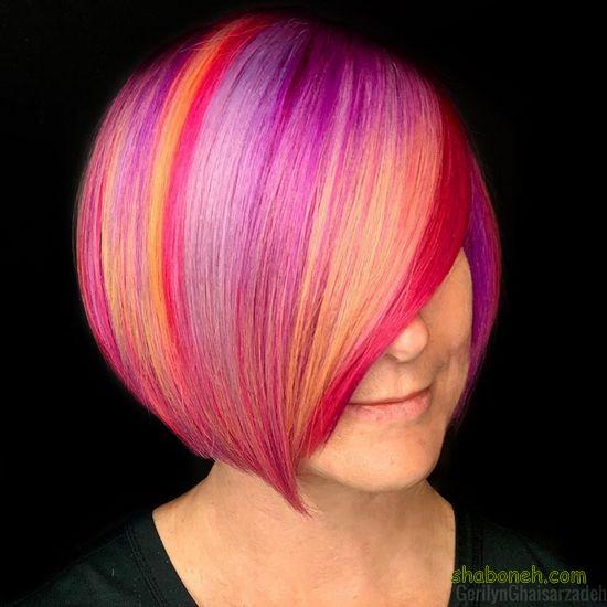مدل رنگ مو زنانه جدید فانتـزی