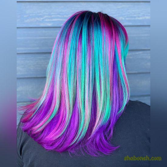 رنگ مو دخترانه بدون دکلره فانتـزی