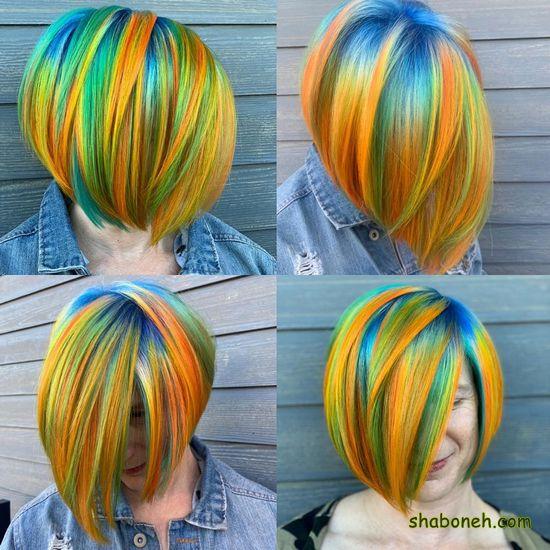 رنگ مو دخترانه زیبا فانتـزی