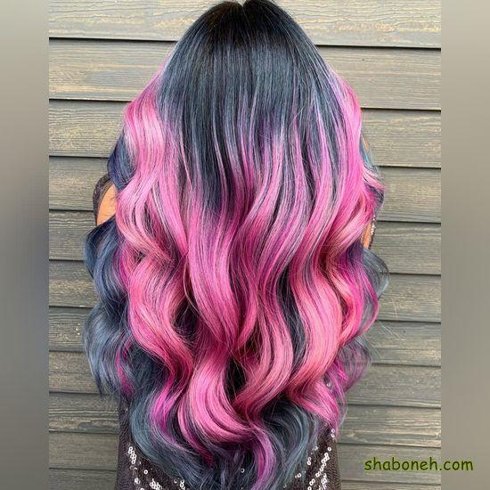 جدیدترین رنگ مو بدون دکلره فانتـزی