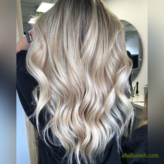 هایلایت زیبای مو