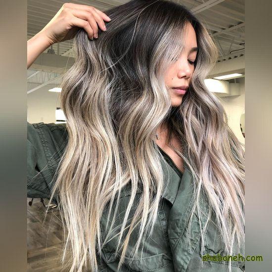 مدل رنگ و مش موی کوتاه