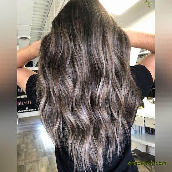 جدیدترین مدل هایلایت موی مشکی