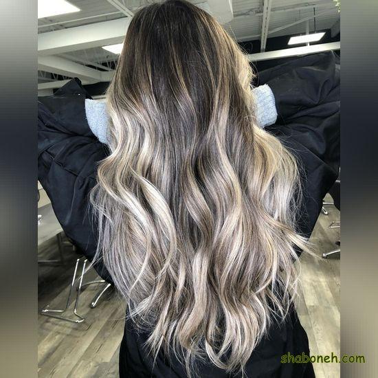 رنگ موهای هایلایت زیبا