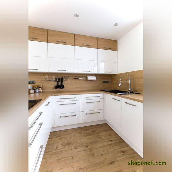 مدلهای کابینت آشپزخانه ام دی اف سفید رنگ
