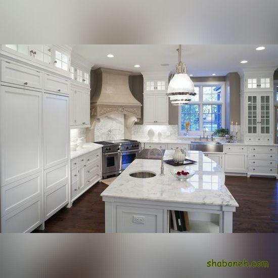 مدلهای کابینت آشپزخانه فلزی سفید رنگ