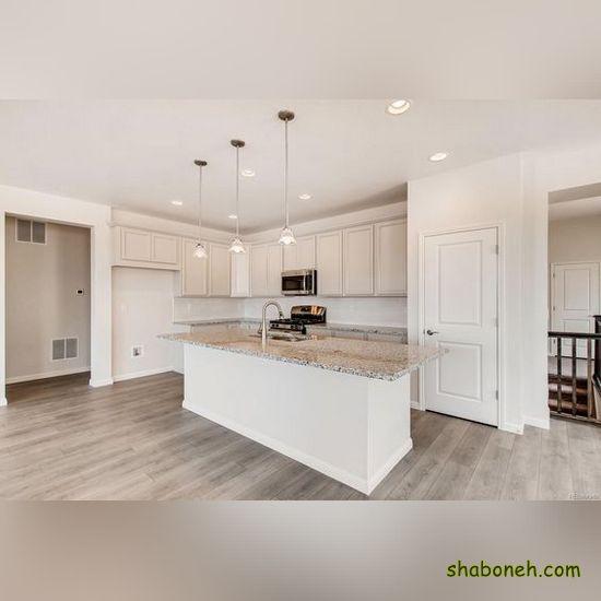 تصاویر کابینت آشپزخانه ام دی اف سفید رنگ