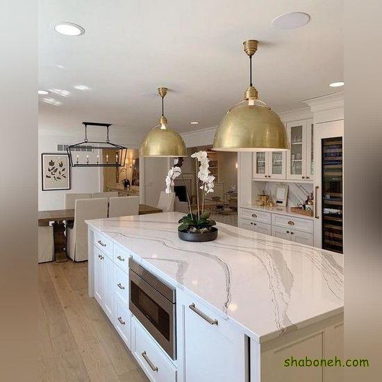 تصاویر کابینت آشپزخانه جدید سفید رنگ