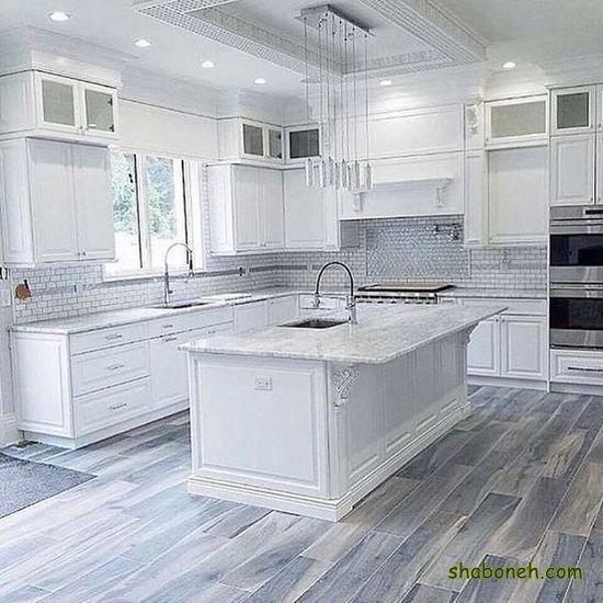 جدیدترین کابینت آشپزخانه بدون اپن سفید رنگ