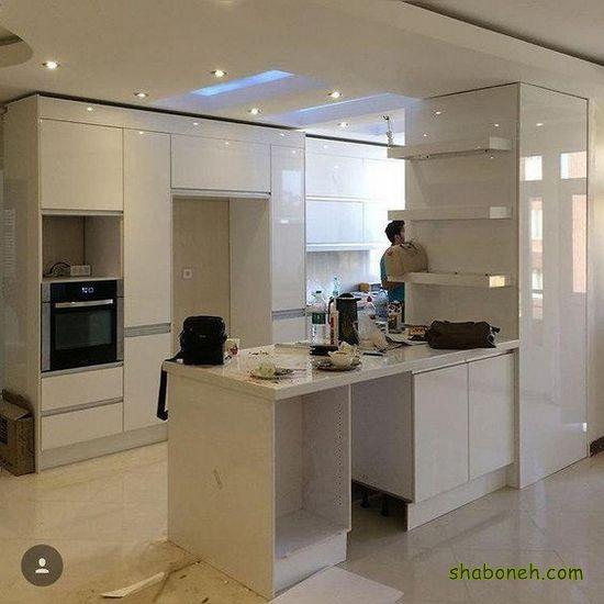 جدیدترین کابینت آشپزخانه ایرانی سفید رنگ