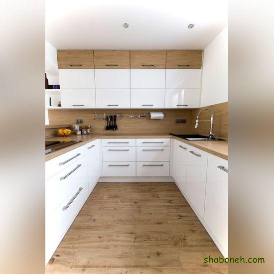 عکس از کابینت آشپزخانه سفید رنگ