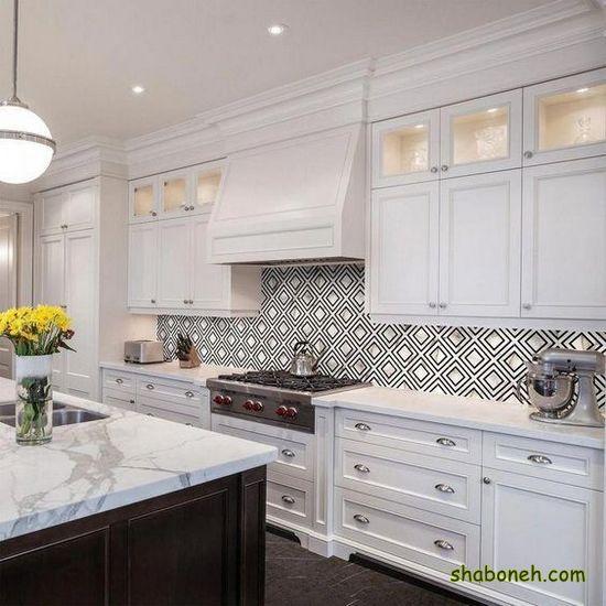 جدیدترین کابینت آشپزخانه 99 سفید رنگ