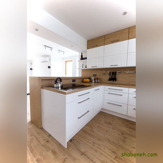 مدلهای کابینت آشپزخانه کوچک سفید رنگ