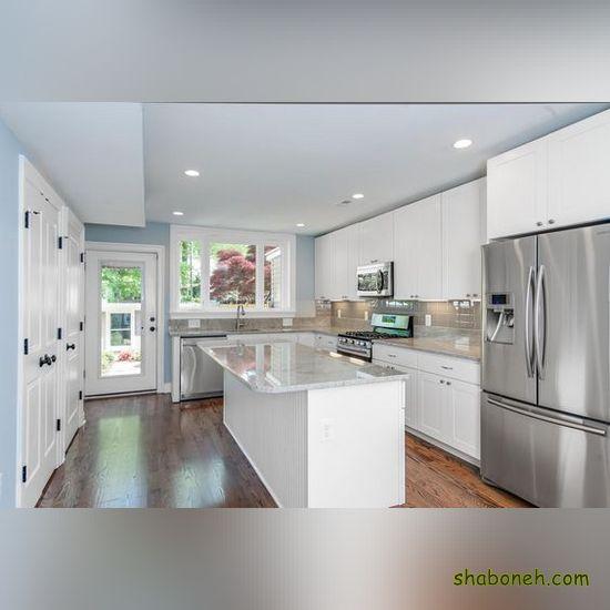 جدیدترین کابینت آشپزخانه کوچک سفید رنگ