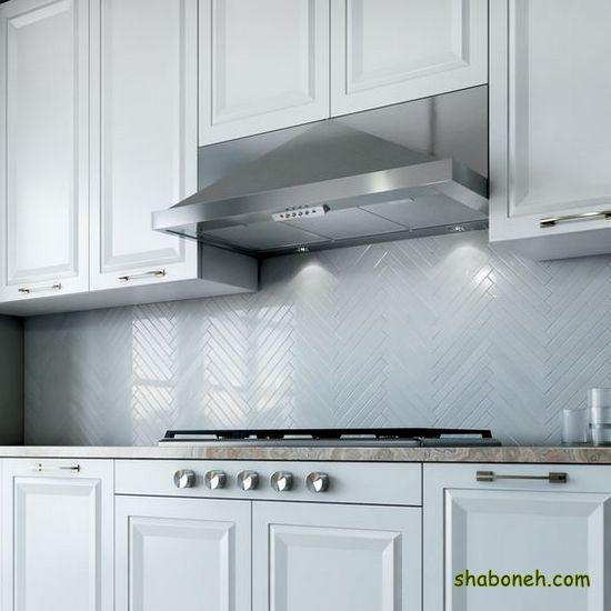 کابینت آشپزخانه زیباترین سفید رنگ