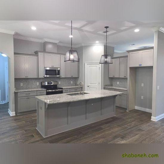 کابینتهای زیبای آشپزخانه سفید رنگ