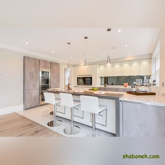 شیکترین طراحی کابینت آشپزخانه سفید رنگ
