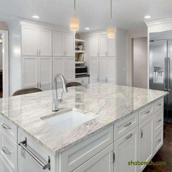 مدل کابینت آشپزخانه زیبا سفید رنگ