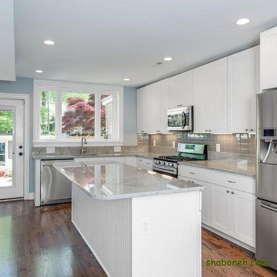 مدلهای کابینت آشپزخانه هایگلاس سفید رنگ