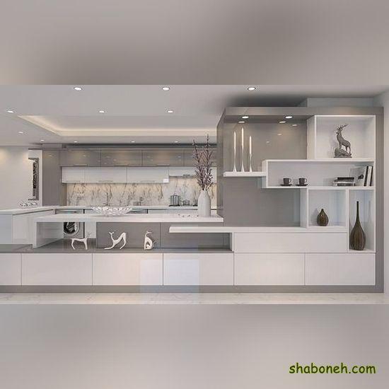تصاویر کابینت آشپزخانه ایرانی سفید رنگ